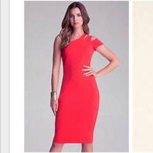 Bebe one shoulder midi dress. Worn once.